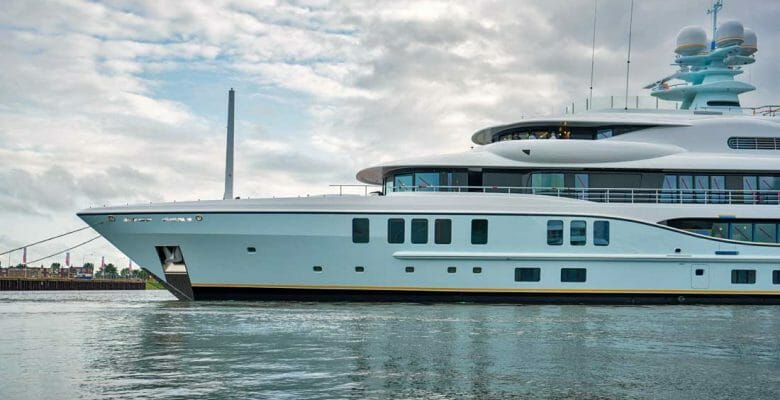 Project Shadow is an Amels 242 megayacht