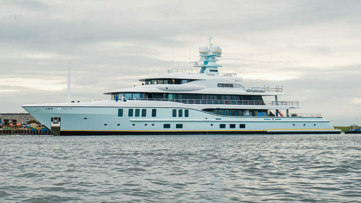 Project Shadow is the sixth Amels 242 superyacht