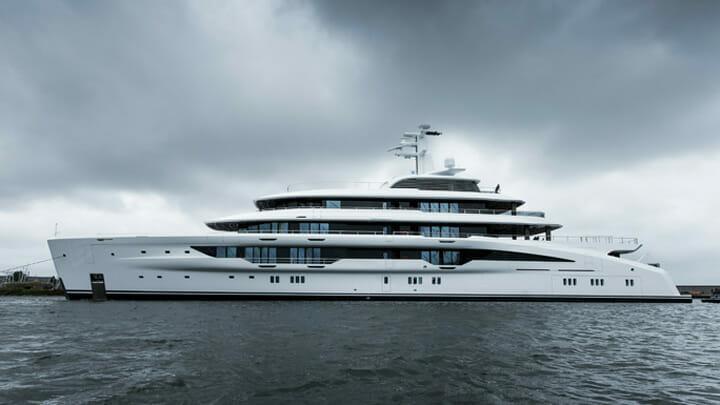 the Custom Amels 78 megayacht is the most voluminous Amels so far