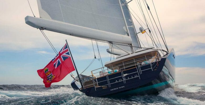 World's Largest High-Performance Ketch, the superyacht Aquijo is for sale