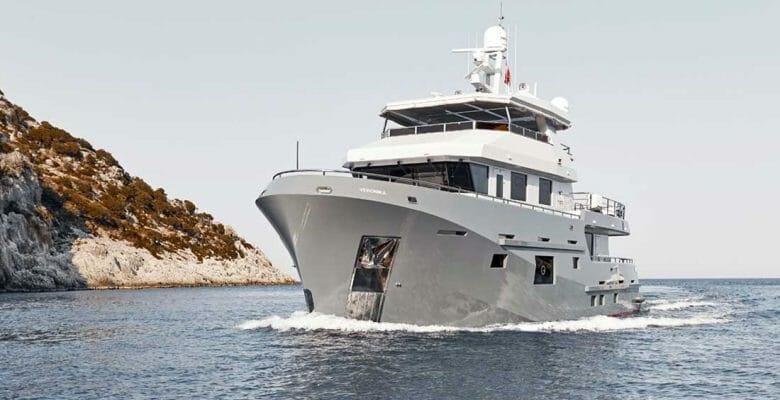 the Bering 77 Veronika megayacht is heading to Australia