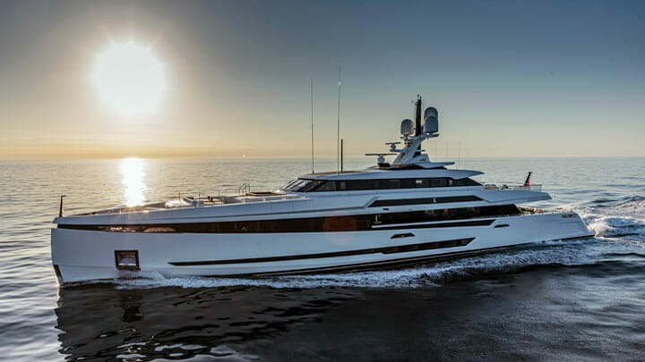 Columbus Yachts' K2 is among the megayachts premiering at the Monaco Yacht Show in 2021
