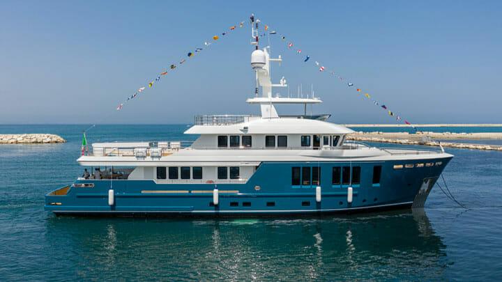 the Darwin 115 pocket superyacht is a true explorer