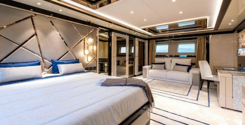 Stefania is a megayacht with an Art Deco interior