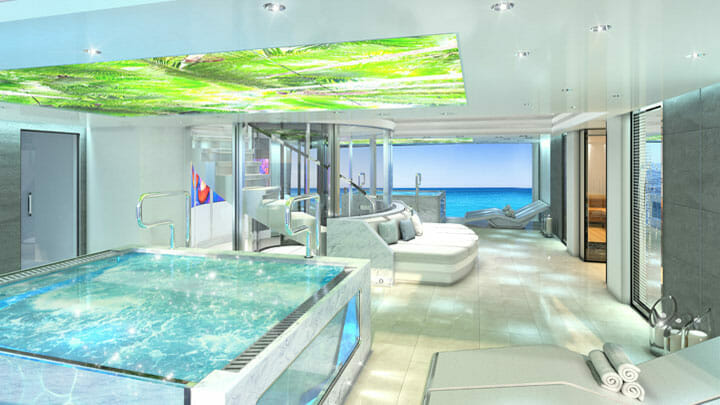 video ceilings are part of the See superyacht concept
