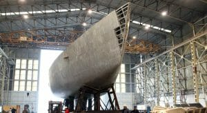 the Perini Navi bankruptcy has kept the yard in limbo; The Italian Sea Group is one suitor
