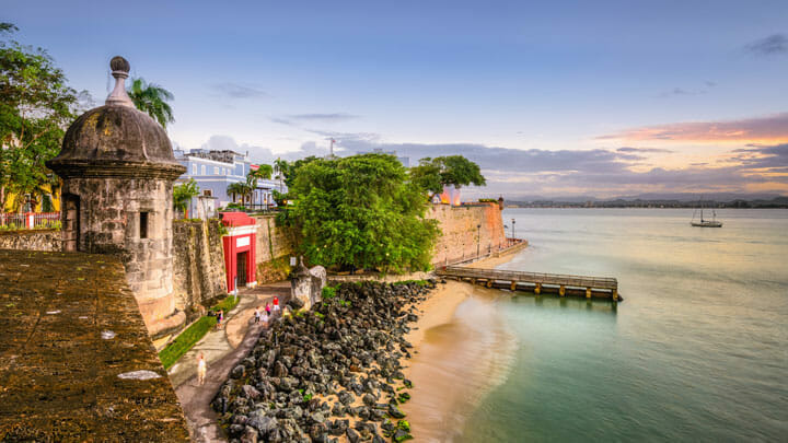 San Juan in Puerto Rico is a popular megayacht charter guest destination