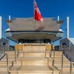 aft steps of the VSY Atomic superyacht