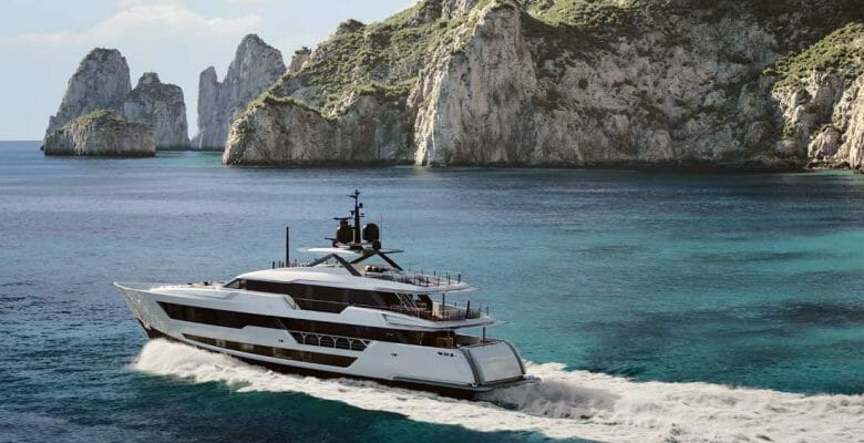 Custom Line 140 is the largest megayacht for the brand