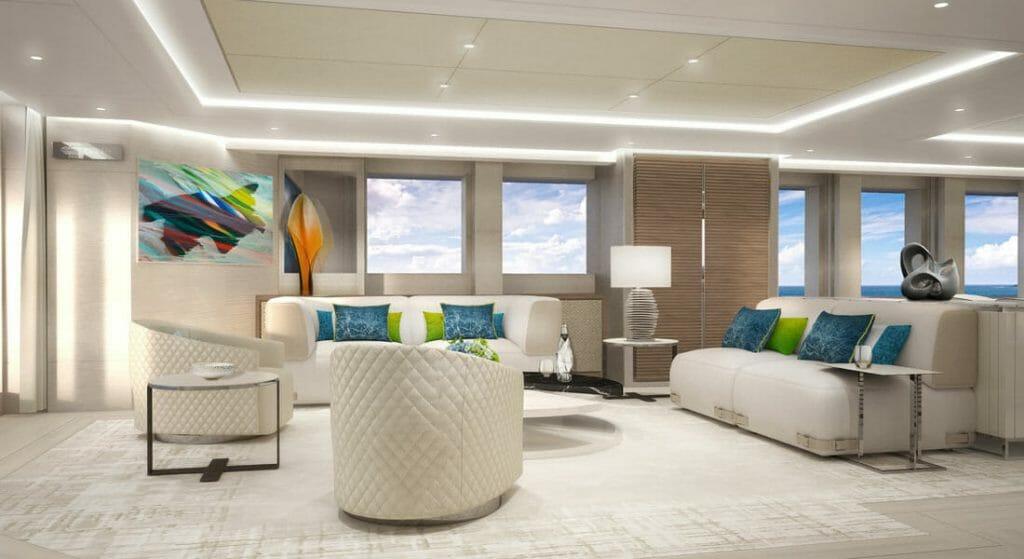 Heesen megayacht Project Aura interior