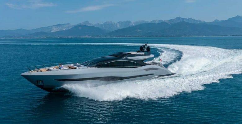 the Mangusta 104 REV open maxi megayacht