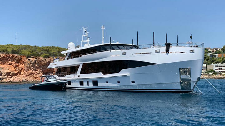 Hot Lab designed the motoryacht Fifty-Five as a family superyacht sanctuary