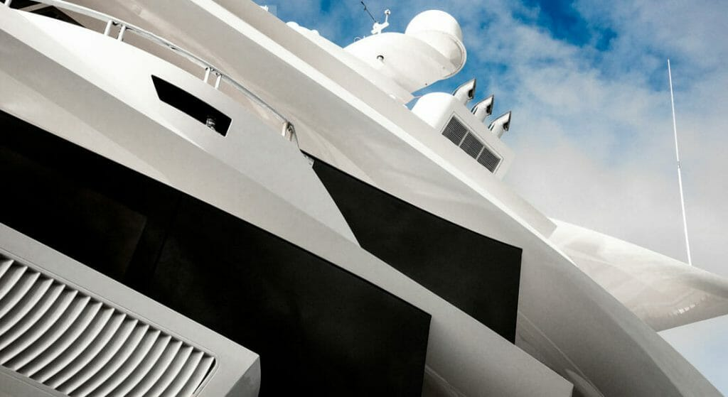 the arresting Artefact is a superyacht designed by Gregory C. Marshall's office