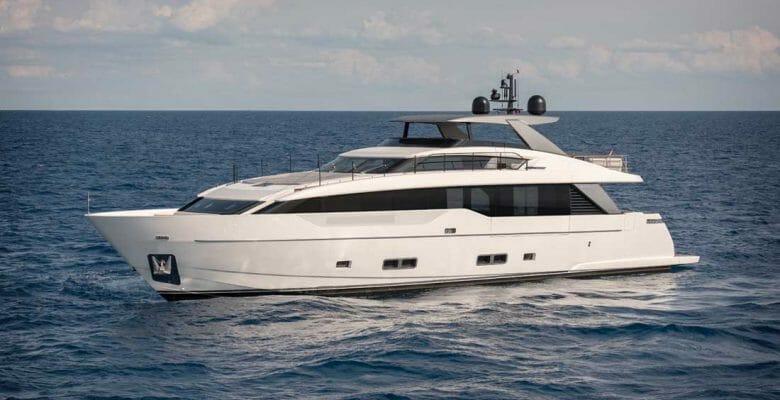 the Sanlorenzo SL90A megayacht is an entry level model