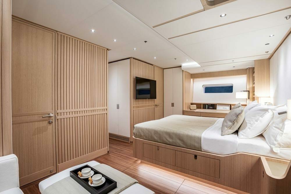 the Swan 98 sailing megayacht series offers semi-custom interiors
