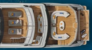 the Azimut Grande Trideck is the flagship megayacht for Azimut Yachts