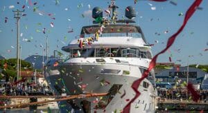 Benetti's Lucky Wave megayacht is hull 3in the Diamond 44M series