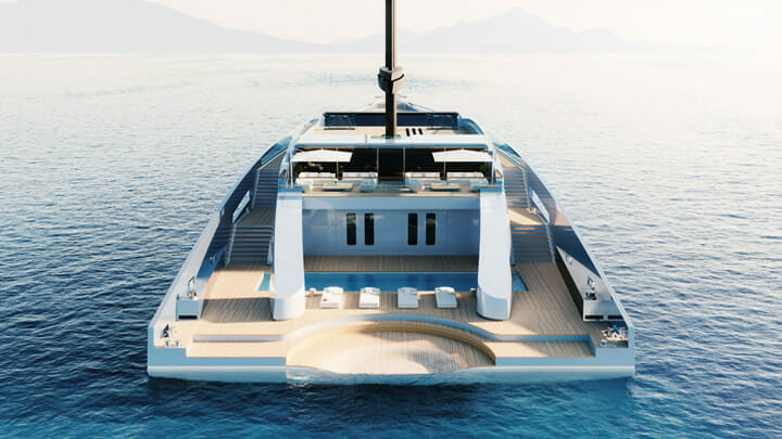 Feadship's Eco Explorer is a wind-driven megayacht vs traditional sailing yacht