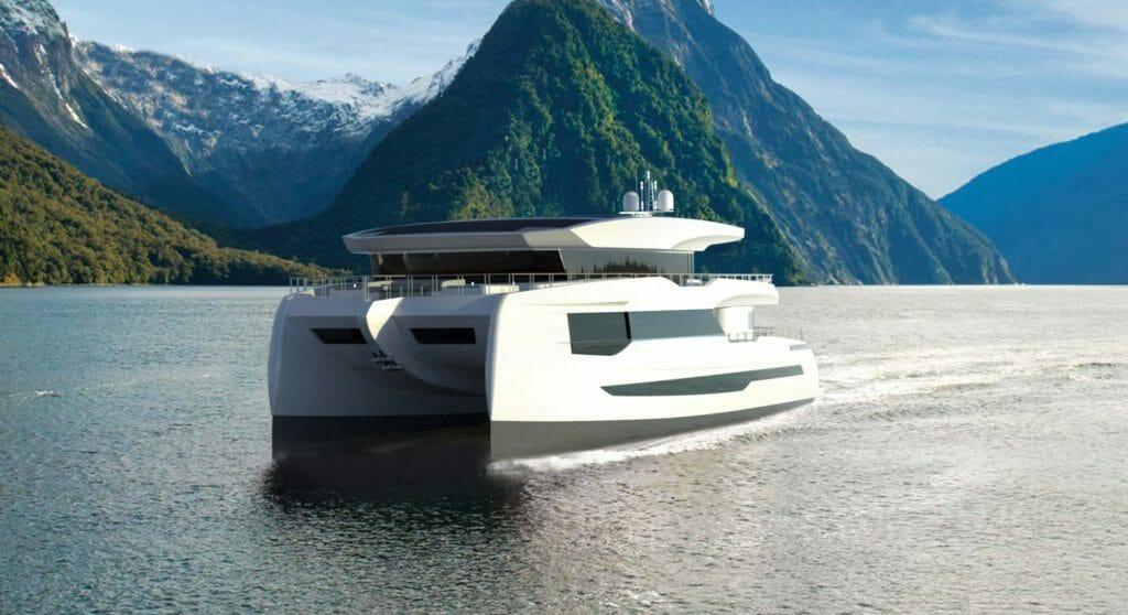 the Silent 100 Explorer is a solar-powered megayacht