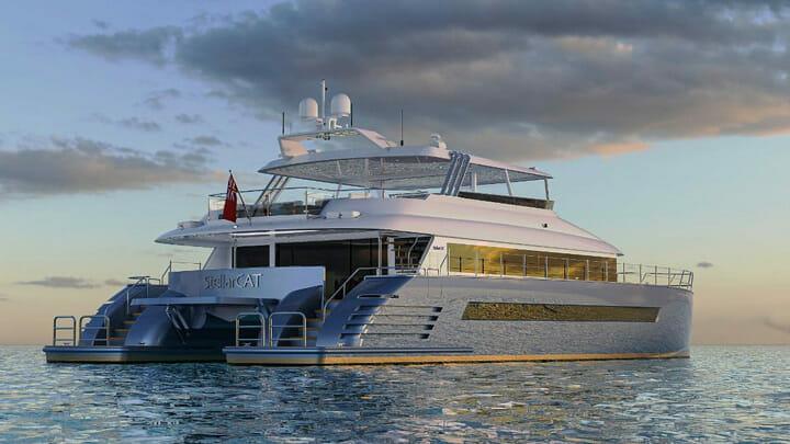 the StellarCat AL25-2 megayacht catamaran